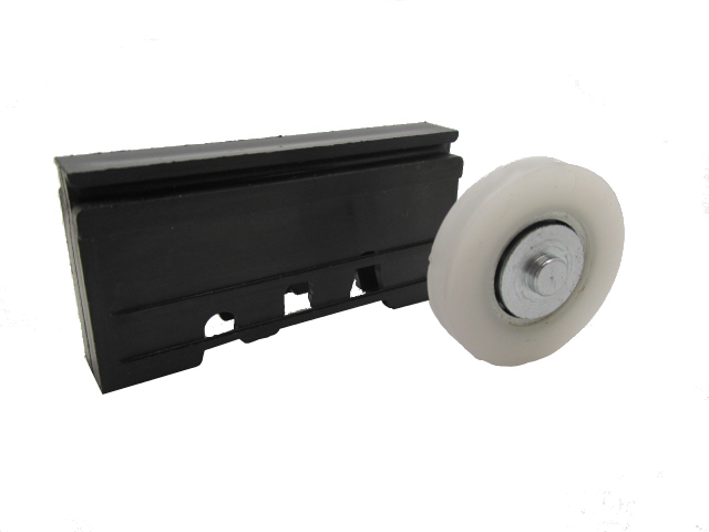 Sliding Door Carriage & Wheel Black