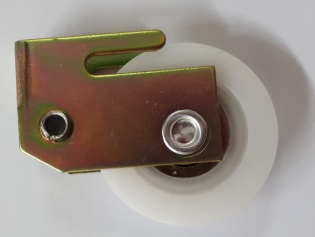 Clip in carriage with wheel.